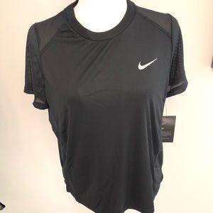 Nike Running Shirt Top Black Large mesh
